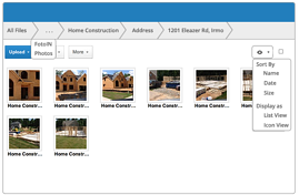Automatic filing to the right folders