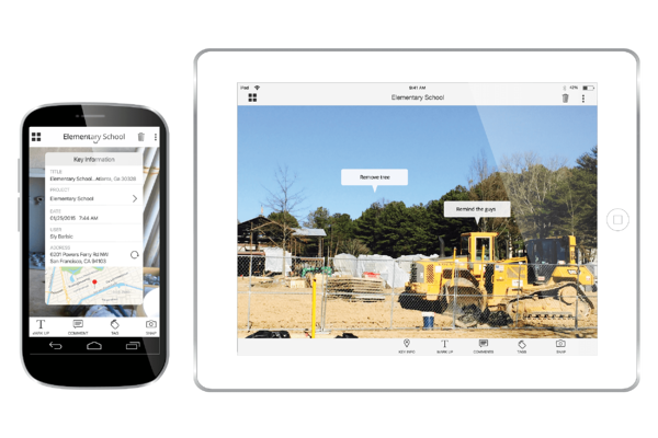 Easy to use mobile application for construction photo documentation, restoration damage image capture, enterprise risk management, site video and project video capture.