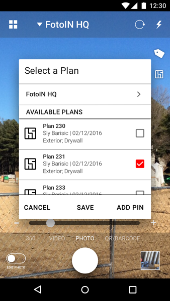 android - select a plan